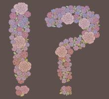 Dark lined pink flowers !? One Piece - Short Sleeve