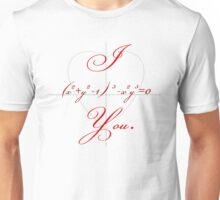 I (Heart-shaped Curve) You. Unisex T-Shirt