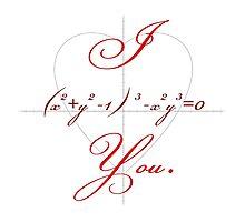 I (Heart-shaped Curve) You. Photographic Print