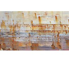 Ship Side Rust Pattern Photographic Print