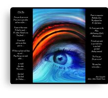 I SEE YOU  Version 2         Bonita Moore IPA Canvas Print