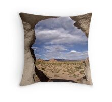 desert window Throw Pillow