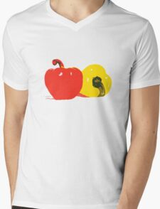 Peppers Graphic Mens V-Neck T-Shirt