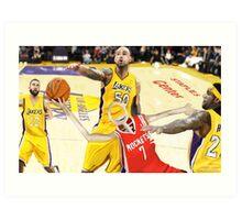 Corky's playing basketball Art Print