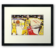Corky's playing basketball Framed Print