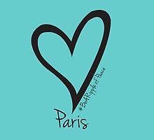 #BeARipple PEACE Heart for Paris Tiffany by BeARipple