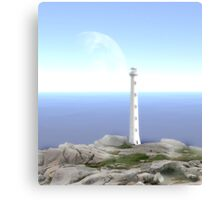 The Reason for Lighthouses - Collaboration with Lucindawind/alienvisitor Canvas Print