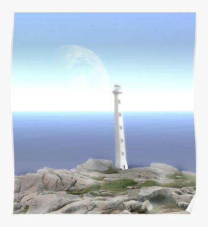 The Reason for Lighthouses - Collaboration with Lucindawind/alienvisitor Poster