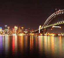 Sydney Harbour By Night by Zaven Jordan