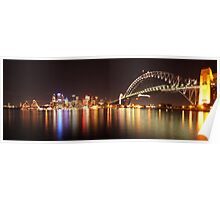 Sydney Harbour By Night Poster