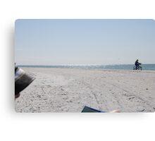 Beach Cyclist Canvas Print