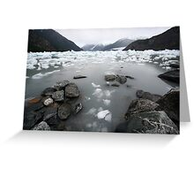 glacier lake Greeting Card