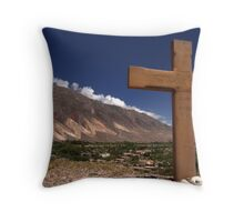 cross and colour Throw Pillow