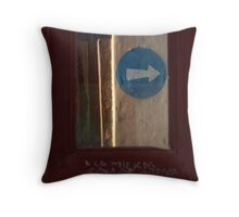 go there Throw Pillow