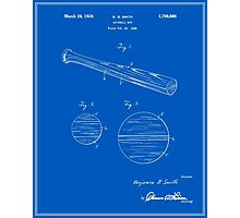 Baseball Bat Patent - Blueprint Photographic Print