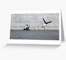 Street acrobatics Greeting Card