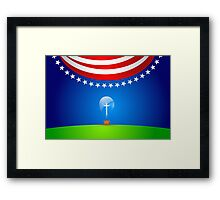 A great idea for the Red, White & Blue. Framed Print