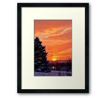 Sunset After the Snowstorm Framed Print