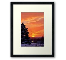 Sunset After the Snowstorm Framed Print
