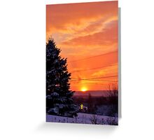 Sunset After the Snowstorm Greeting Card