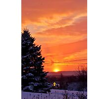 Sunset After the Snowstorm Photographic Print