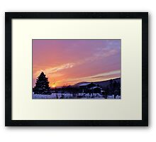Sunset After the Snowstorm II Framed Print