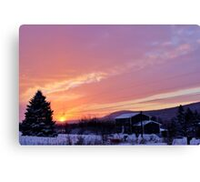 Sunset After the Snowstorm II Canvas Print