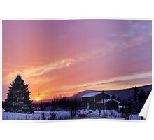 Sunset After the Snowstorm II Poster