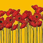 Poppies Yellow by LawrenceA