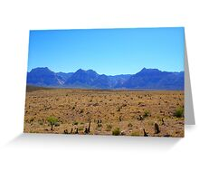 Rugged Mountains Greeting Card