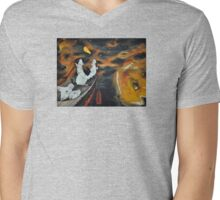 Mice Space Mens V-Neck T-Shirt