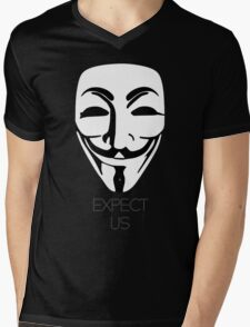 Anonymous: Expect Us Mens V-Neck T-Shirt