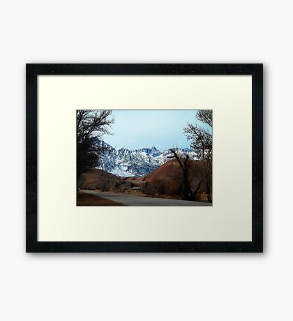 Road To The Top - Mount Whitney Framed Print