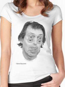 Steve Buscemi Eyes Women's Fitted Scoop T-Shirt
