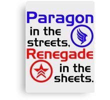 Paragon vs. Renegade Canvas Print