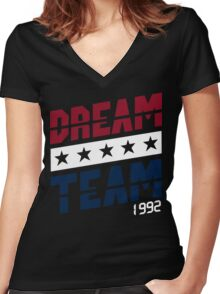 Dream Team Funny Geek Nerd Women's Fitted V-Neck T-Shirt