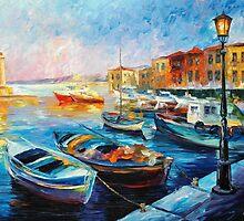Fishing Boats — Buy Now Link - www.etsy.com/listing/217416744 by Leonid  Afremov