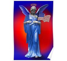 ✌ SAFE BENEATH THE WINGS OF AN ANGEL PICTURE/CARD TRIBUTE TO U.S.A.✌ Poster