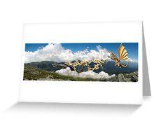 MT Washington Kaiju Batle Greeting Card