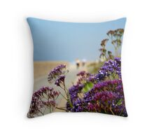 Beachwalk Wildflowers Throw Pillow