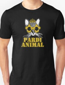 Black and Gold Pardi Animal Unisex T-Shirt