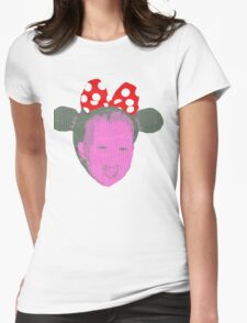 The Girl with the RED bow  Womens Fitted T-Shirt