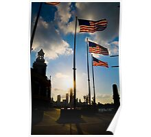 Sunset at Navy Pier Poster