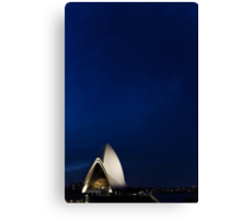 Lonely Sydney Opera House  Canvas Print