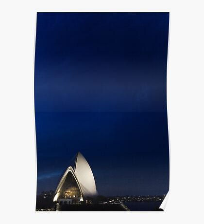 Lonely Sydney Opera House  Poster
