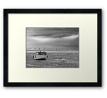 Boat on beach Framed Print