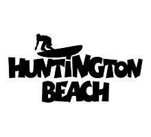 Huntington Beach Surfing Photographic Print