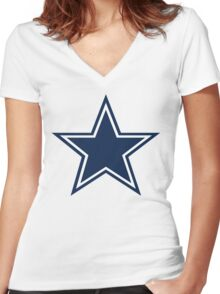BIG D STAR Women's Fitted V-Neck T-Shirt