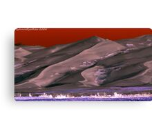 #399  Under A Blood Red Sky Canvas Print