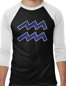 Once in a Blue Sky [White Outline]   Age of Aquarius Men's Baseball ¾ T-Shirt